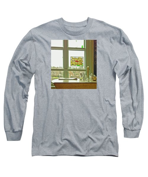 Long Sleeve T-Shirt featuring the photograph My Favourite Cafe by Anne Kotan