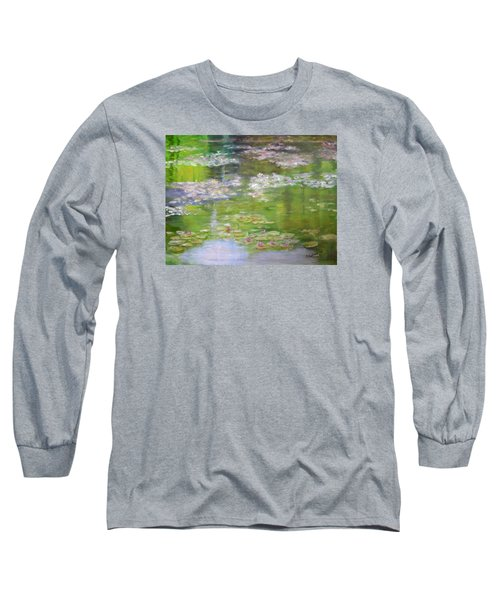 Long Sleeve T-Shirt featuring the painting My Giverny by Sandra Nardone
