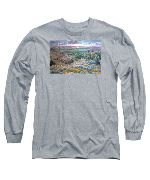 Long Sleeve T-Shirt featuring the painting My Home Looking West by Dawn Senior-Trask