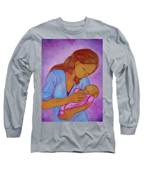 Long Sleeve T-Shirt featuring the painting My Little Sweetness by Gioia Albano