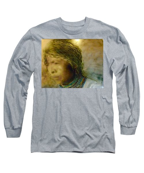 Long Sleeve T-Shirt featuring the painting My Memory Walks Before Me by FeatherStone Studio Julie A Miller