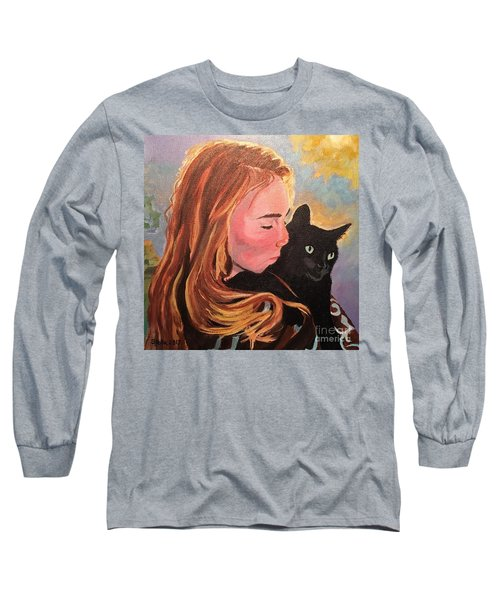 My Purring Friend Whiskers Long Sleeve T-Shirt