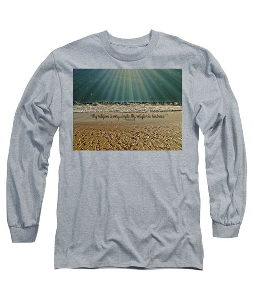 Long Sleeve T-Shirt featuring the mixed media My Religion by Trish Tritz