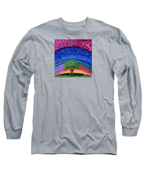 Tree At Nightfall Long Sleeve T-Shirt