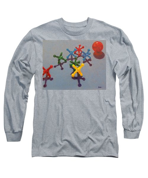 Long Sleeve T-Shirt featuring the painting My Turn by Susan DeLain