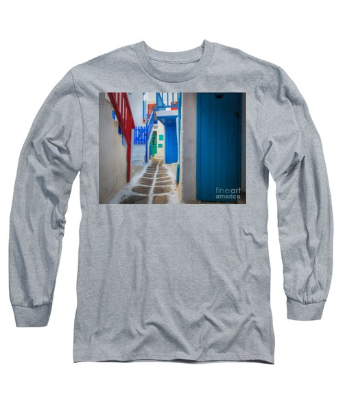 Mykonos Alley Long Sleeve T-Shirt