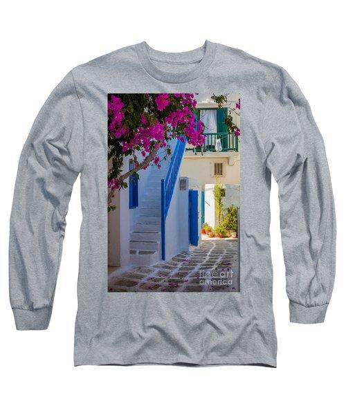 Mykonos Staircase Long Sleeve T-Shirt