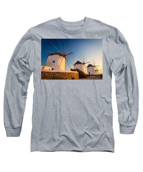 Mykonos Windmills Long Sleeve T-Shirt