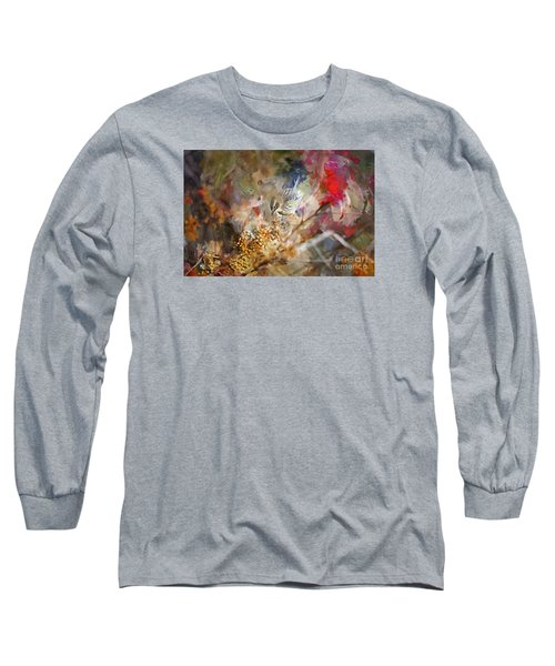 Myrtle Warbler Four Long Sleeve T-Shirt by Suzanne Handel