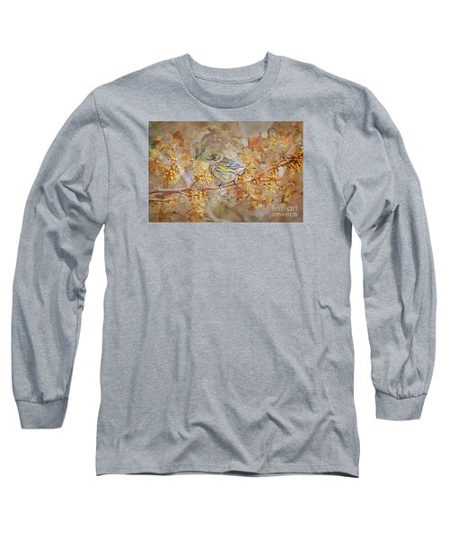 Myrtle Warbler Long Sleeve T-Shirt