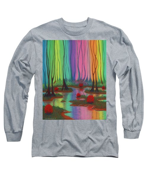 Mystic Marsh 01 Panel A Long Sleeve T-Shirt