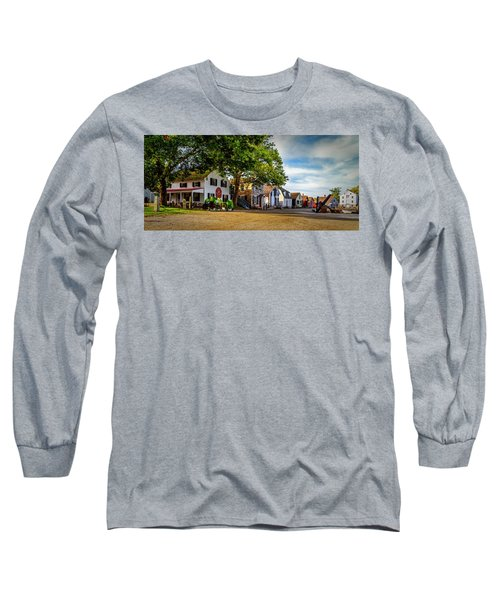 Mystic Seaport Village Long Sleeve T-Shirt