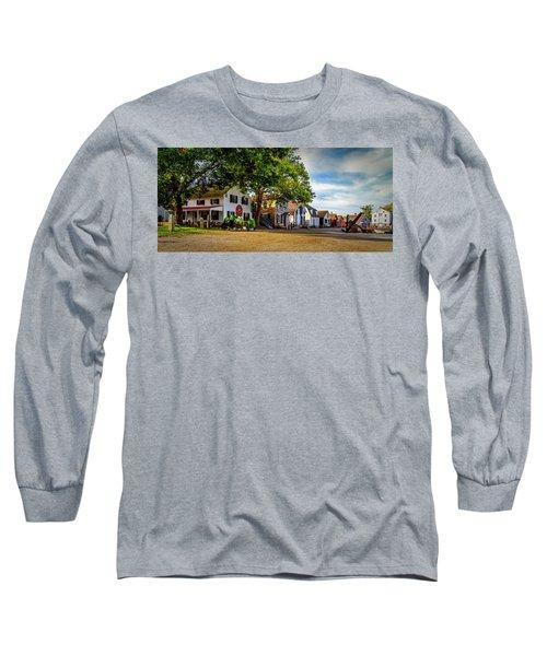 Mystic Seaport Village Long Sleeve T-Shirt
