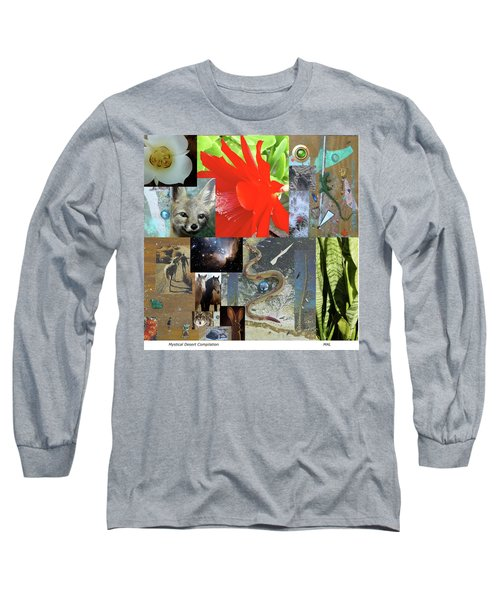 Mystical Desert Compilation Long Sleeve T-Shirt by Mary Ann  Leitch