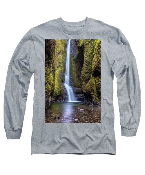 Long Sleeve T-Shirt featuring the photograph Mystical Oneonta Falls by Pierre Leclerc Photography