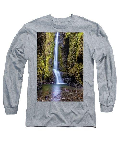 Mystical Oneonta Falls Long Sleeve T-Shirt