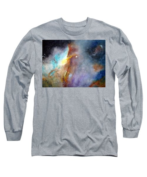 Long Sleeve T-Shirt featuring the painting N11b Large Magellanic Cloud by Allison Ashton