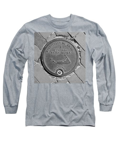 Nantucket Water Meter Cover Long Sleeve T-Shirt by Charles Harden