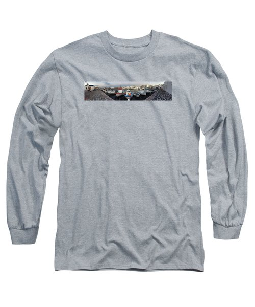 Naoussa Village Island Greece Long Sleeve T-Shirt