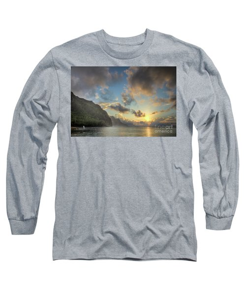 Napali Coast Sunset Kauai Long Sleeve T-Shirt