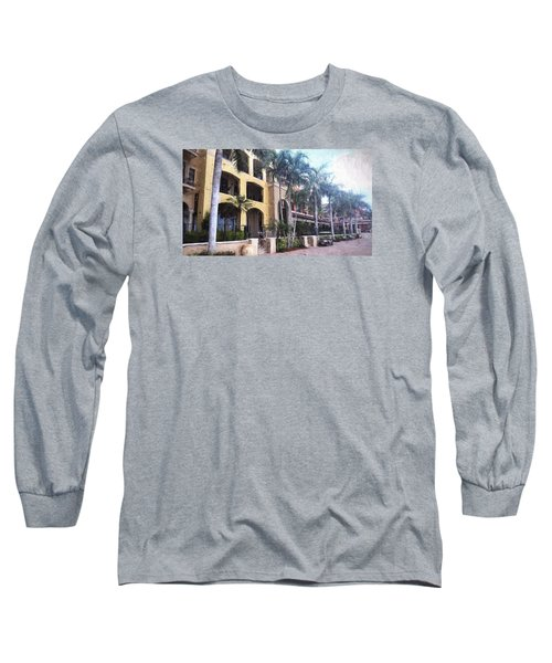 Naples On The Waterfront Long Sleeve T-Shirt by Rena Trepanier