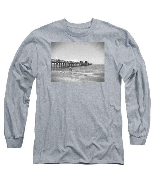 Naples Pier Long Sleeve T-Shirt by Rena Trepanier