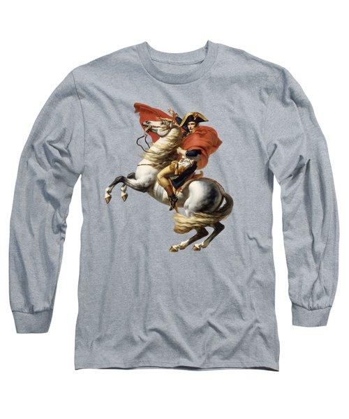 Napoleon Bonaparte On Horseback Long Sleeve T-Shirt