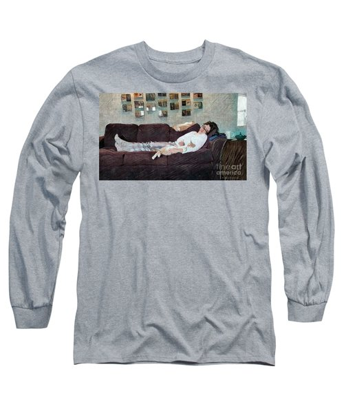 Long Sleeve T-Shirt featuring the photograph Naptime With The Boys by Kathie Chicoine