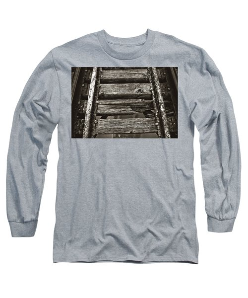 Narrow Gauge Tracks #photography #art #trains Long Sleeve T-Shirt