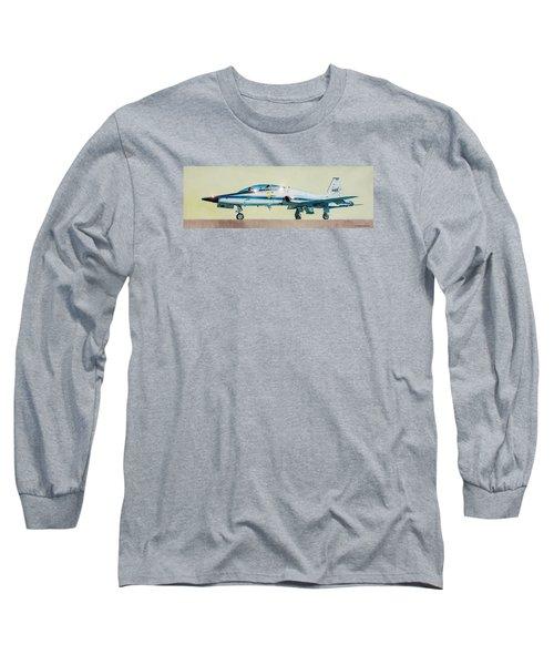 Nasa T-38 Talon Long Sleeve T-Shirt by Douglas Castleman