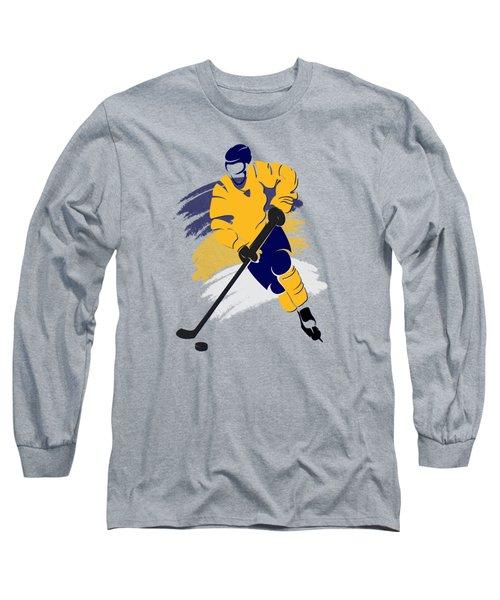 Nashville Predators Player Shirt Long Sleeve T-Shirt by Joe Hamilton