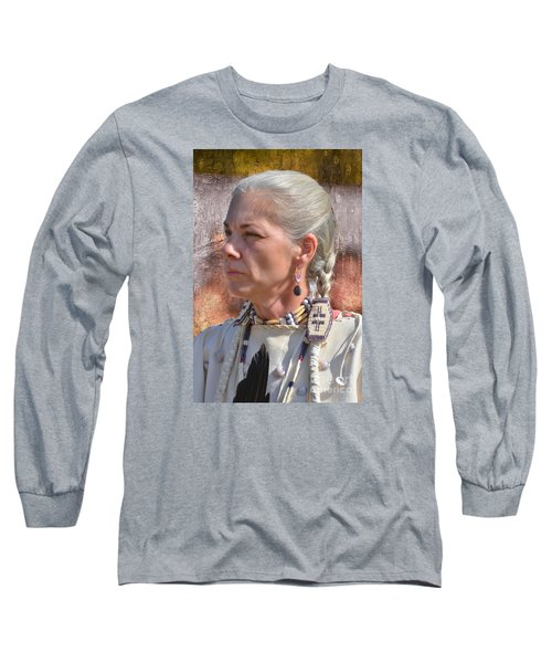 Native American Woman Long Sleeve T-Shirt