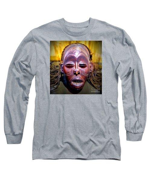 Native Mask Long Sleeve T-Shirt by John Potts