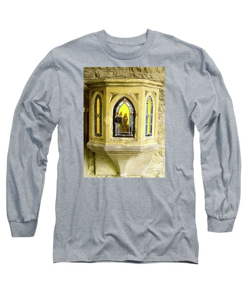 Long Sleeve T-Shirt featuring the photograph Nativity In Ancient Stone Wall by Linda Prewer