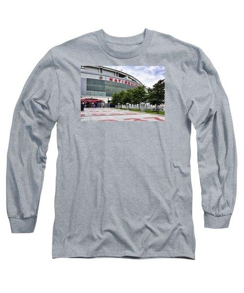 Nats Park - Front Entrance  Long Sleeve T-Shirt by Brendan Reals