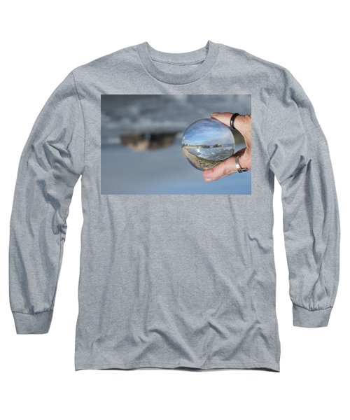 Long Sleeve T-Shirt featuring the photograph Natural Bridge And The Ball by Lora Lee Chapman