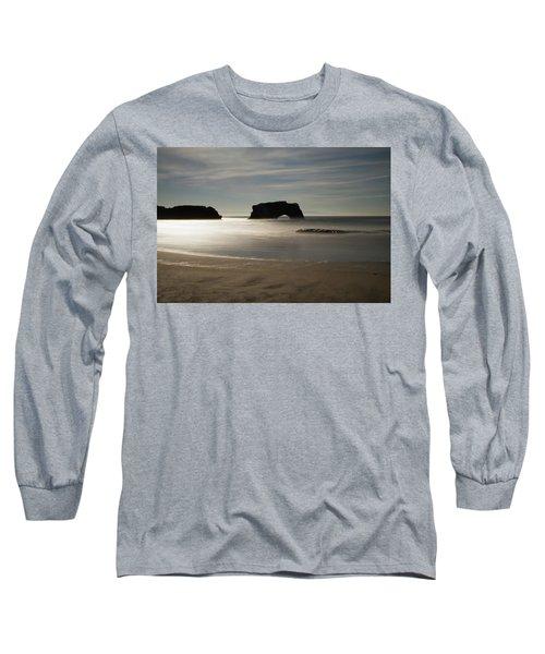 Natural Bridges State Beach Sand Long Sleeve T-Shirt