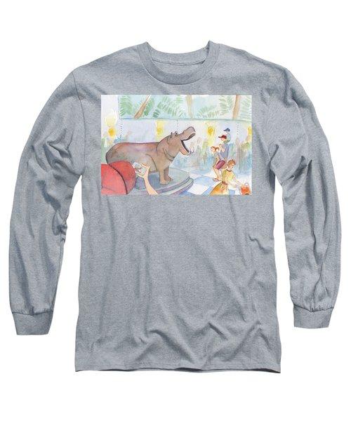 Natural History Hippo Long Sleeve T-Shirt