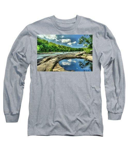 Natural Swimming Pool Long Sleeve T-Shirt