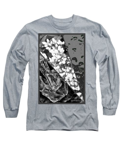 Nature Collage In Black And White Long Sleeve T-Shirt