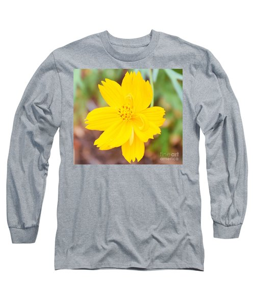 Long Sleeve T-Shirt featuring the photograph Nature Colorful Flower Gifts - Yellow by Ray Shrewsberry
