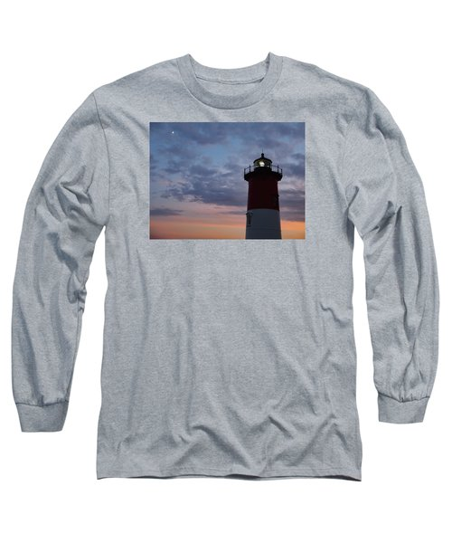 Nauset Light Lighthouse At Sunset Long Sleeve T-Shirt