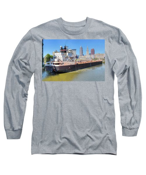 Long Sleeve T-Shirt featuring the photograph Navigating The Cuyahoga by Brent Durken