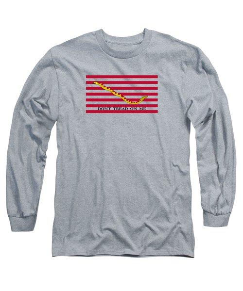 Navy Jack Flag - Don't Tread On Me Long Sleeve T-Shirt