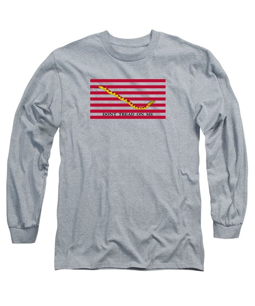 Navy Jack Flag - Don't Tread On Me Long Sleeve T-Shirt