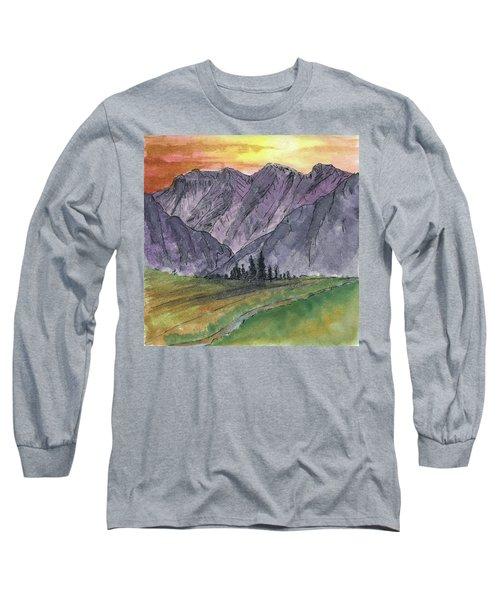Near Canyon Entrance Long Sleeve T-Shirt by R Kyllo