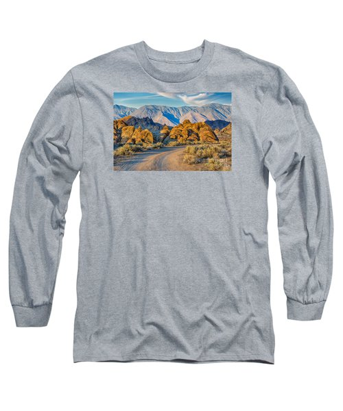 Near Sunset In The Alabama Hills Long Sleeve T-Shirt