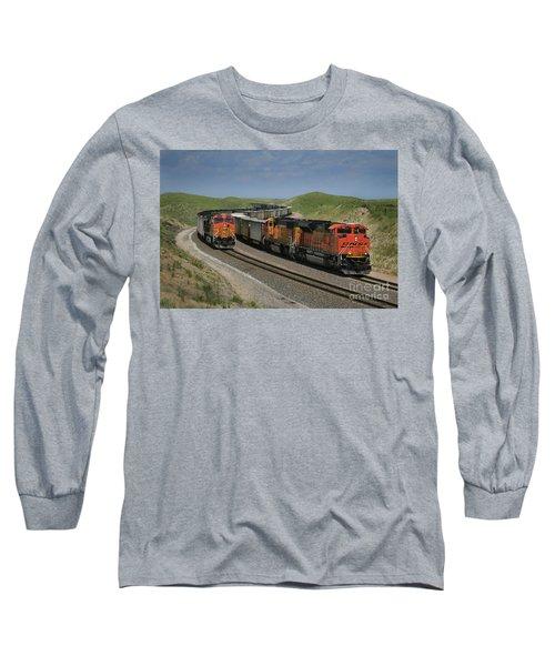 Nebraska Coal Trains Long Sleeve T-Shirt