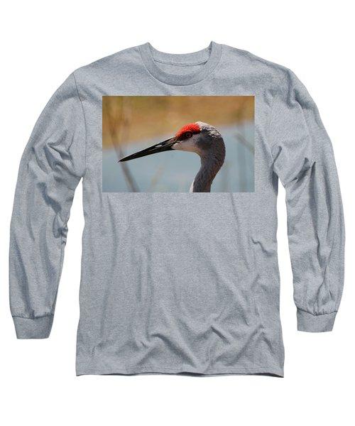 Nebraska Sandhill Crane Long Sleeve T-Shirt
