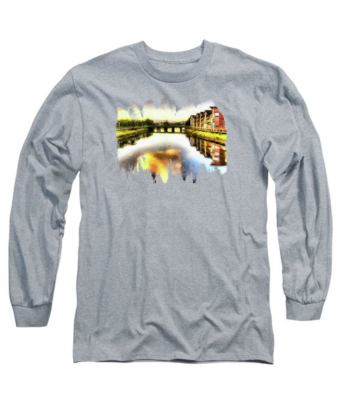 Long Sleeve T-Shirt featuring the photograph Necanium River Seaside by Thom Zehrfeld